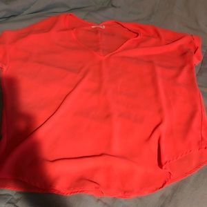 LUSH brand medium flowy coral blouse
